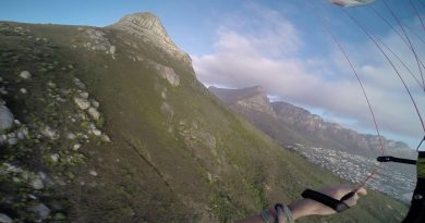 Sunset Speedflying Between Cape Town Mansions